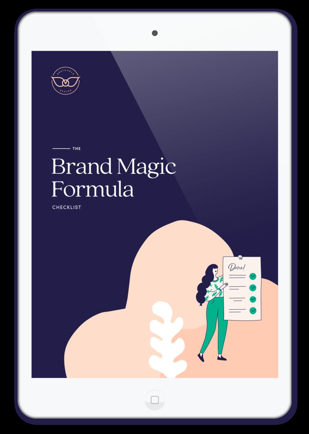 Brand Magic Formula Checklist lead magnet ipad image
